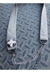 Black Bling Tie Necklace