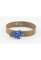 Blue Bling Bangle