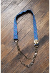 Plaid Lion Tie Necklace