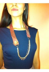 Rose Gold Tie Necklace